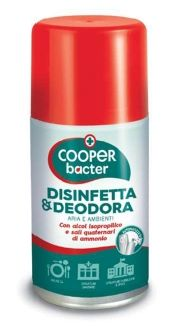 COOPER BACTER BOMBOLA DISINFETTANTE ARIA ED AMBIENTI 250 ML