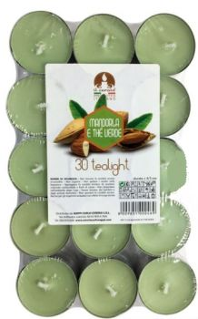 LUMINO TEA LIGHT (CF/30PZ) MANDORLA E THE VERDE